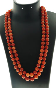 Star Jewels- Modern Designer Semi Precious Stone & Fashion Jewelry Classic Two Line Neck Piece Created with Beautiful Carnelian Gemstones (24 Inches)