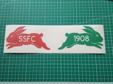 South  Sydney Rabbitohs car stickers SSFC 1908 Car Decals with Afterpay. Sth Sydney bunnies