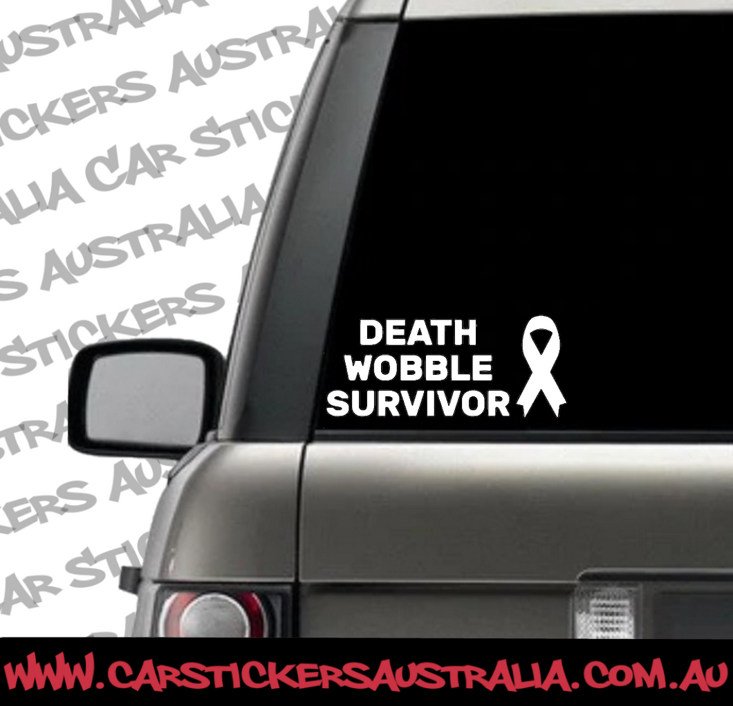 Death Wobble Survivor Car Decal