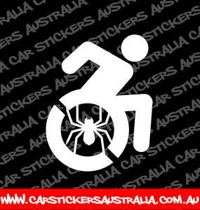 super hero wheer chair car decal. spiderman wheelchair car sticker