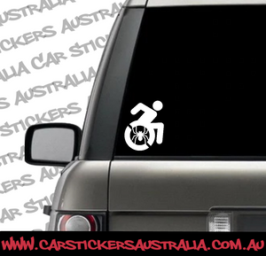 wheelchair super hero car decals