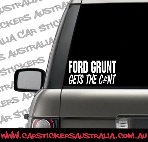 Ford Grunt Gets The C#NT