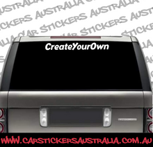 Create Your Own Custom Decal - Large