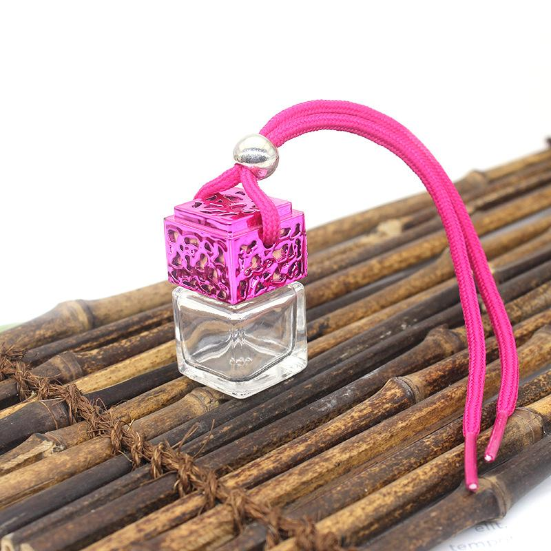 Hanging Glass Car Diffuser Pink