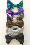 Merman Blue Glittery Bow Tie Elasticated Dicky Bow MADWAG Sparkly Glittery Fun Silly Gift Stocking Filler