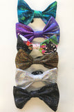 Gold Holographic Bow Tie Elasticated Dicky Bow MADWAG Sparkly Glittery Fun Silly Gift Stocking Filler