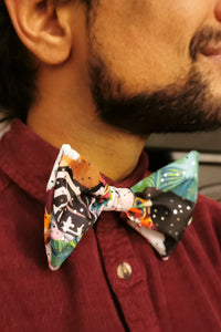 Tropical Parrot Glittery Bow Tie Elasticated Toucan Dicky Bow MADWAG Sparkly Glittery Fun Silly Gift Stocking Filler