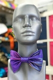 Purple Metallic Holographic Bow Tie Elasticated Dicky Bow MADWAG Sparkly Glittery Fun Silly Gift Stocking Filler