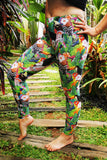 TROPICAL TOUCAN GLITTER LEGGINGS