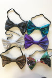 Silver Holographic Bow Tie Elasticated Dicky Bow MADWAG Sparkly Glittery Fun Silly Gift Stocking Filler
