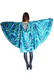 Mermaid Glittery Festival Cape Reversible Hooded MADWAG