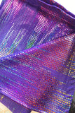 Purple Rain Rainbow Patterned Holographic Metallic Men's Leggings MADWAG Festival Fashion Pride