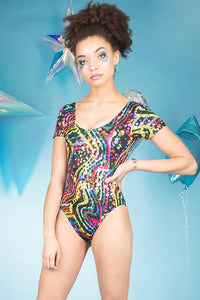 Rainbow Multicoloured Festival Leotard MADWAG