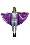Silver Purple Holographic Snakeskin Festival Cape Hooded Reversible MADWAG