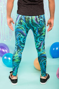 Merman Glitter Meggings Men's Leggings Festival Pants MADWAG