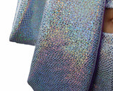 Silver Sparkly Holographic Fabric Close Up MADWAG