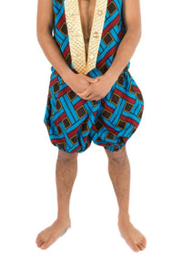 Red & Blue Weave Shorts Men's Festival Bloomers MADWAG