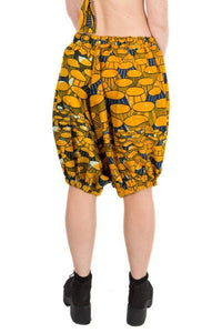 Unisex Yellow Festival Bloomers Party Shorts MADWAG