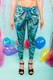 Mermaid Glitter Leggings Festival Leggings MADWAG