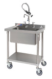 Commercial kitchen pre-rinse with filler tap - UK connections - Adjustable Centers (PR20) - American Catering Equipment (UK) Ltd
