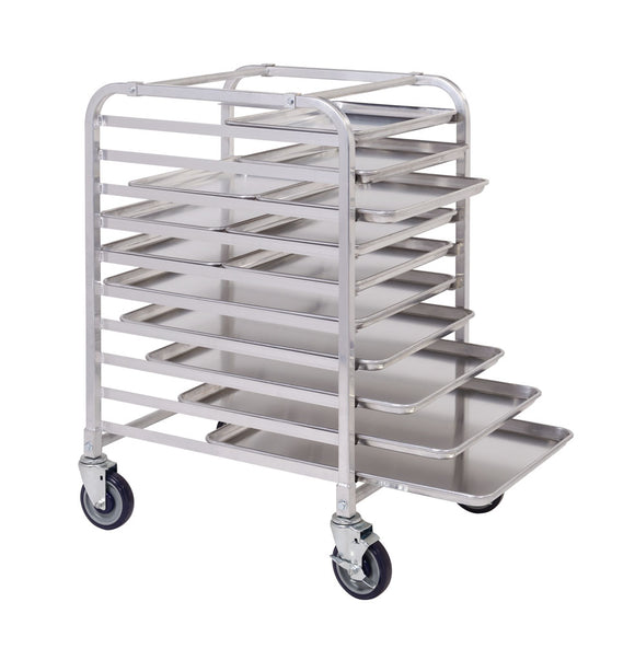 10 Tier Aluminium Mobile Pan Rack Including Pans - American Catering Equipment (UK) Ltd