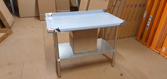 Stainless steel table with galvanised shelf - American Catering Equipment (UK) Ltd