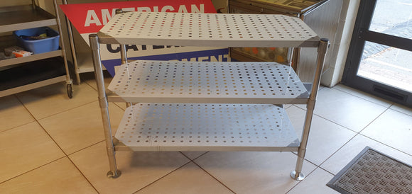 Storage rack 1200 mm (3 perforated Shelves)