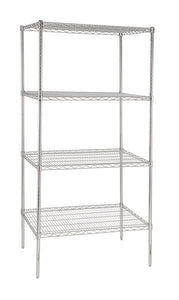 900 mm wide four tier chrome plated storage rack - American Catering Equipment (UK) Ltd