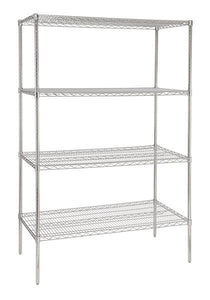 1200 mm wide four tier chrome plated storage rack - American Catering Equipment (UK) Ltd