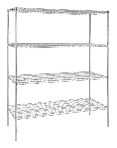 1800 mm wide four tier chrome plated storage rack - American Catering Equipment (UK) Ltd