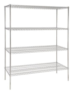 1500 mm wide four tier chrome plated storage rack - American Catering Equipment (UK) Ltd