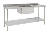 "SSCB624-1 SINK  255 MM (10"") DEEP BOWL - American Catering Equipment (UK) Ltd"
