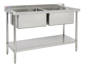 Double bowl commercial stainless steel catering sink - large bowls (SSDB424-2) - American Catering Equipment (UK) Ltd