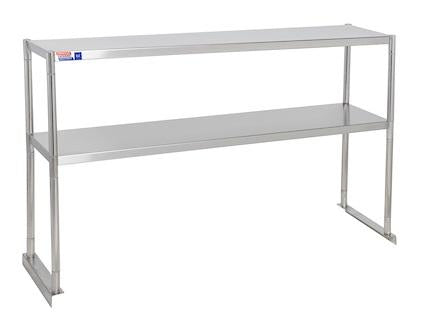 SSTP412-2 FIXED DOUBLE OVER SHELF UNIT 1219 X 304 MM - American Catering Equipment (UK) Ltd