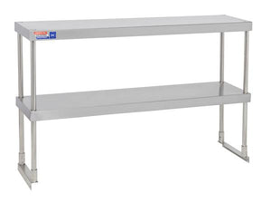 SSTP412 ADJUSTABLE DOUBLE OVER SHELF UNIT 1219 X 304 MM - American Catering Equipment (UK) Ltd