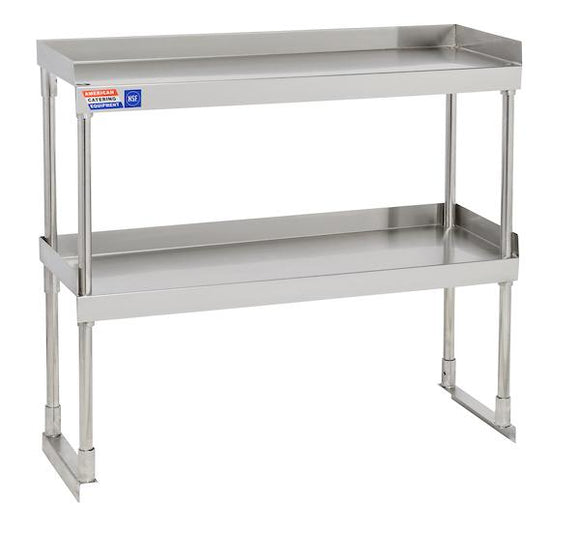 SSTU312 ADJUSTABLE DOUBLE OVER SHELF UNIT 914 X 304 MM - American Catering Equipment (UK) Ltd