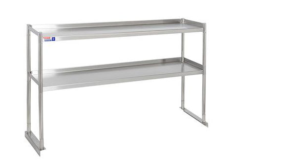 SSTU412-2 FIXED DOUBLE OVER SHELF UNIT 1219 X 304 MM - American Catering Equipment (UK) Ltd
