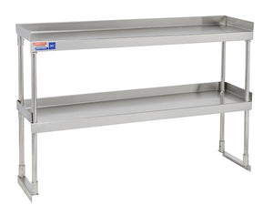 SSTU612 ADJUSTABLE DOUBLE OVER SHELF UNIT 1829 X 304 MM - American Catering Equipment (UK) Ltd