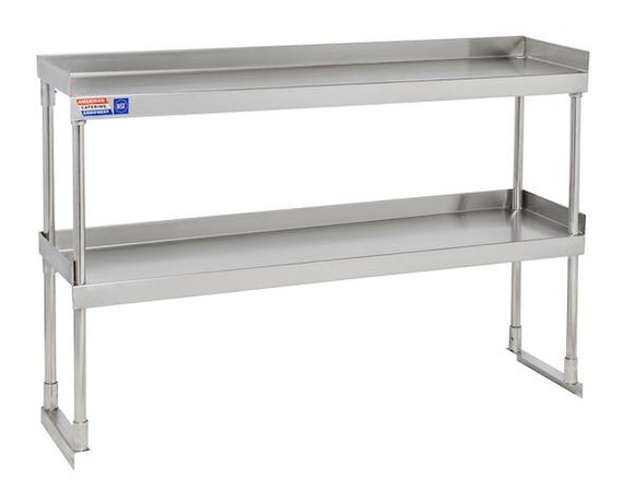 SSTU412 ADJUSTABLE DOUBLE OVER SHELF UNIT 1219 X 304 MM - American Catering Equipment (UK) Ltd