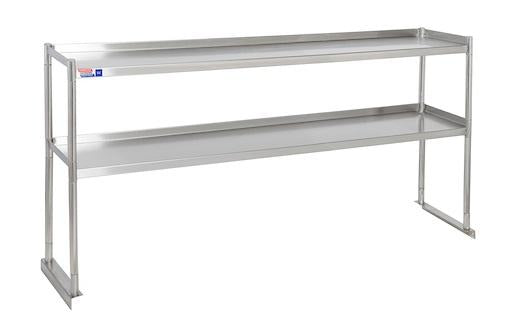 SSTU512-2 FIXED DOUBLE OVER SHELF UNIT 1524 X 304 MM - American Catering Equipment (UK) Ltd