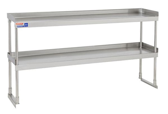 SSTU512 ADJUSTABLE DOUBLE OVER SHELF UNIT 1524 X 304 MM - American Catering Equipment (UK) Ltd