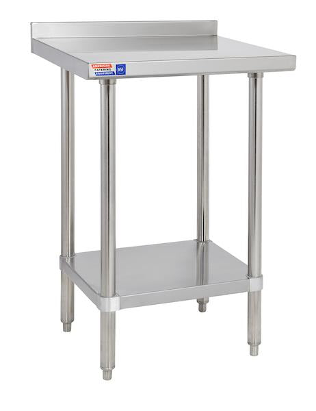 "SSWB230 Wall Table 610 x 762 x 914 mm (24"" x 30"" x 36"") 50mm (2.5"") Upstand to rear"