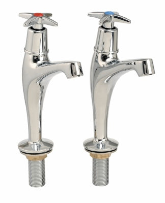 PILLAR TAPS WITH CROSS HEAD HANDLES TO FIT ALL ACE-UK SINKS - UK CONNECTIONS