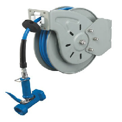 Wash down open hose reel - heavy duty - UK connections - 11 meter hose - American Catering Equipment (UK) Ltd