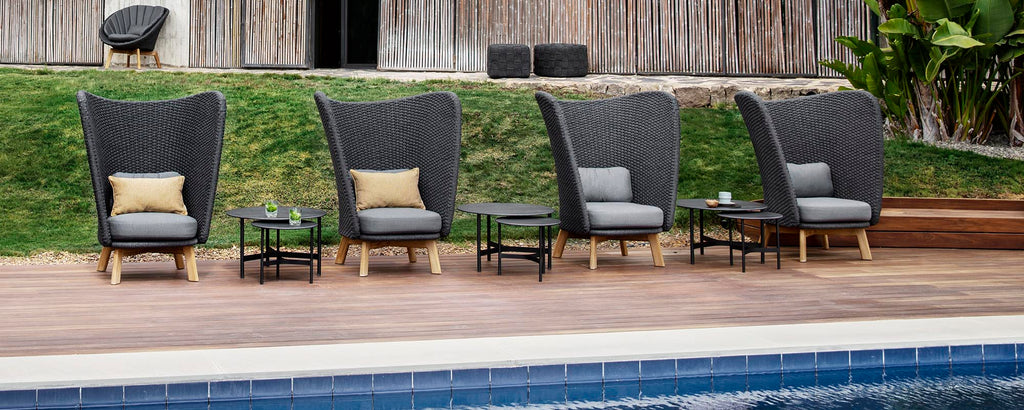 Outdoor highback chairs