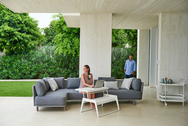 Outdoor furniture grey cushions