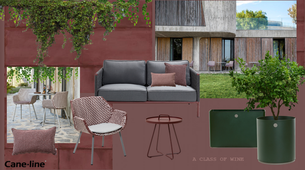 Outdoor furniture bordeaux colour