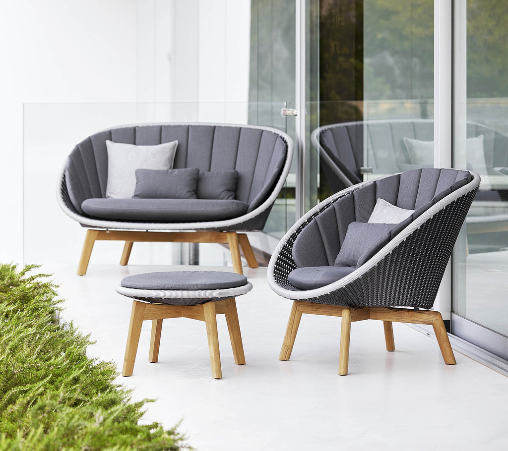Peacock lounge chair, Cane-line Weave (5458)