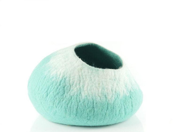 Turquoise Pot Cat Cave Bed - MIMISDAUGHTERS