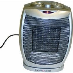 Swiss Luxx Low Wattage Swivel Ceramic Fan Heater